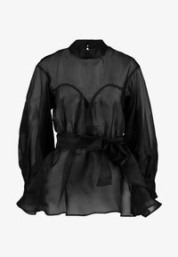 Nly by Nelly - VOLUME ORGANZA BLOUSE - Blus - black - 4