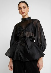 Nly by Nelly - VOLUME ORGANZA BLOUSE - Blus - black - 3