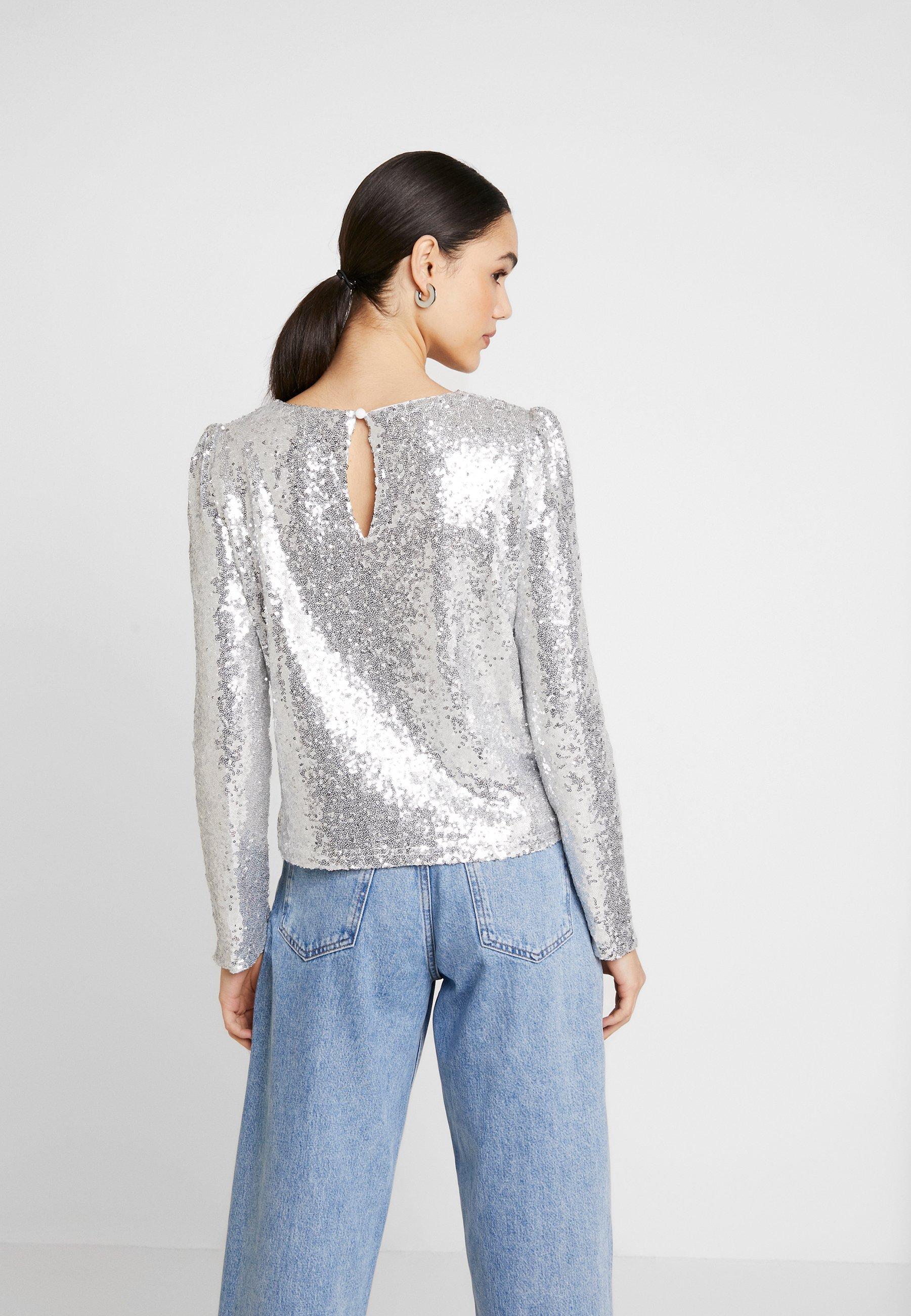 Nly by Nelly PERFECT SEQUIN - Bluser - silver