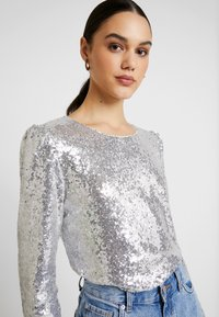 Nly by Nelly - PERFECT SEQUIN - Bluser - silver - 5