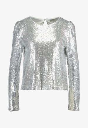 PERFECT SEQUIN - Blouse - silver