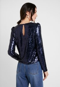 Nly by Nelly - PERFECT SEQUIN - Blouse - dark blue - 2