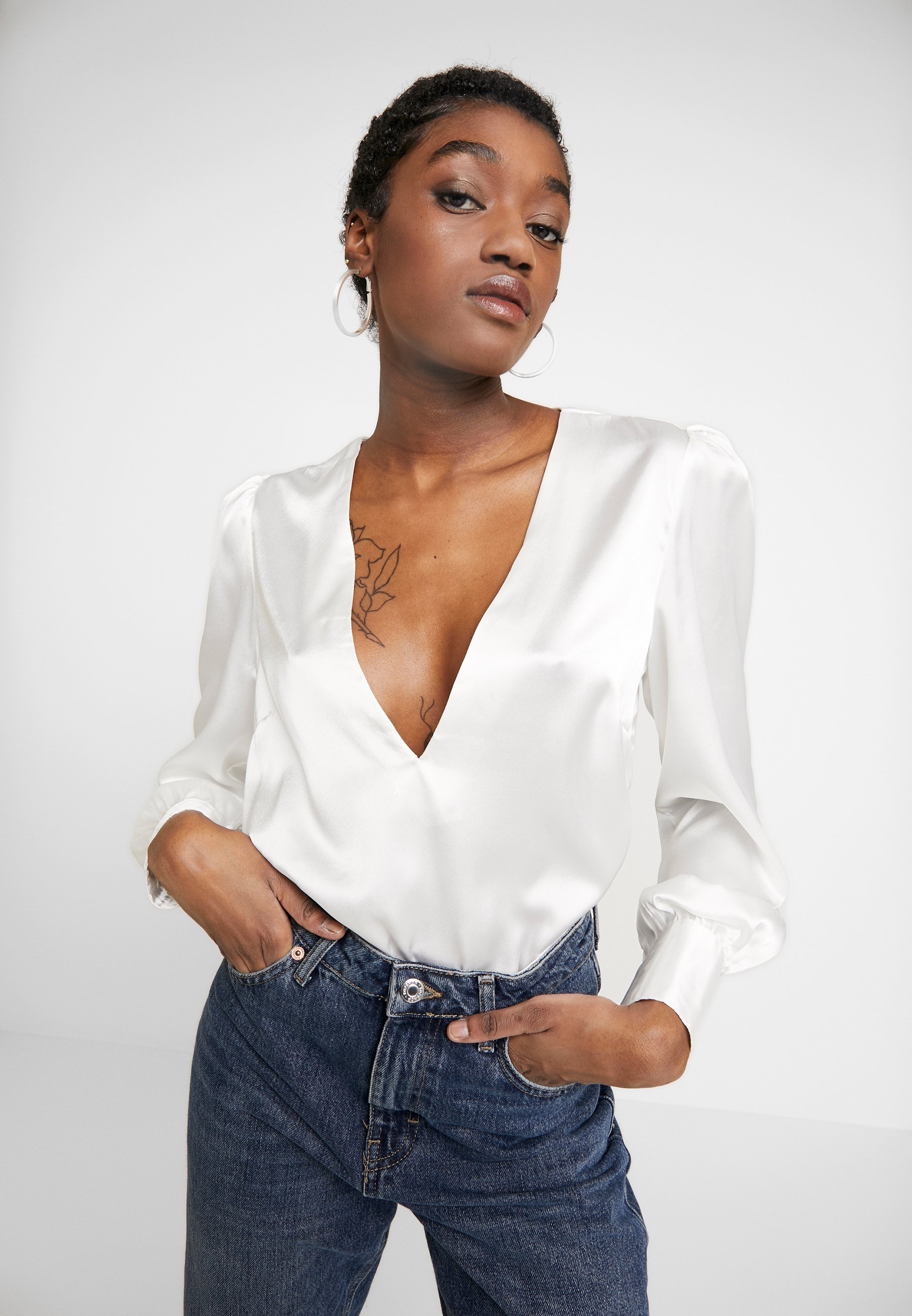 Nly by Nelly EYE CATCHER BLOUSE - Bluser - creme