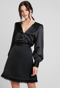 Nly by Nelly - EYE CATCHER BLOUSE - Blus - black - 0