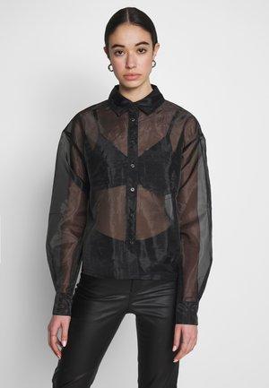 ORGANZA - Button-down blouse - black
