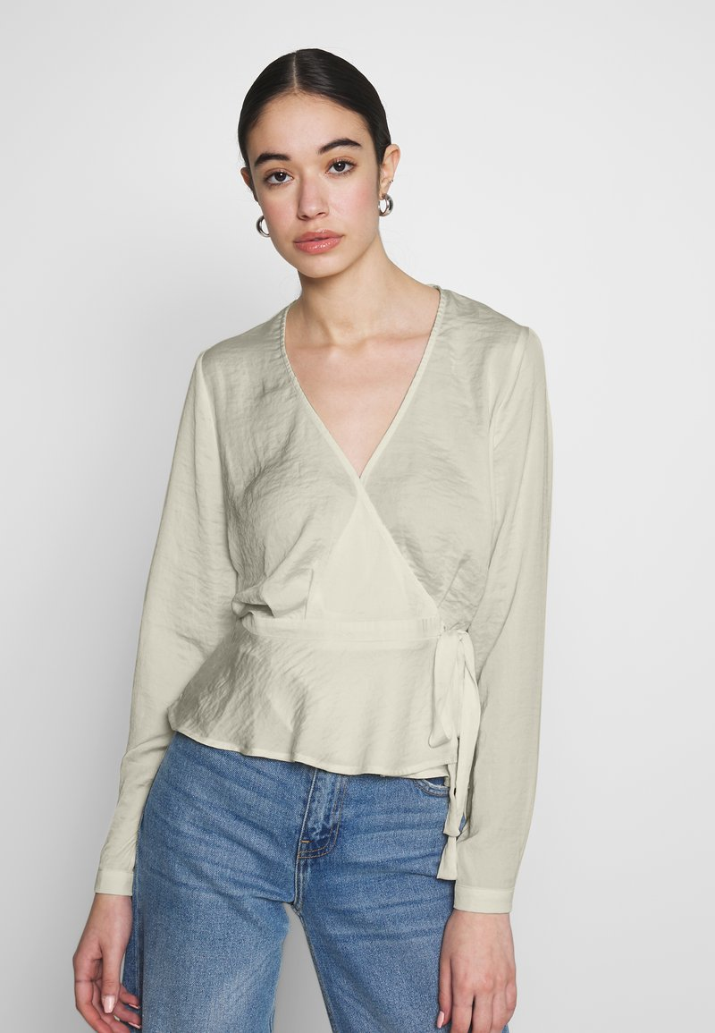 Nly by Nelly - LOVELY WRAP BLOUSE - Bluser - creme