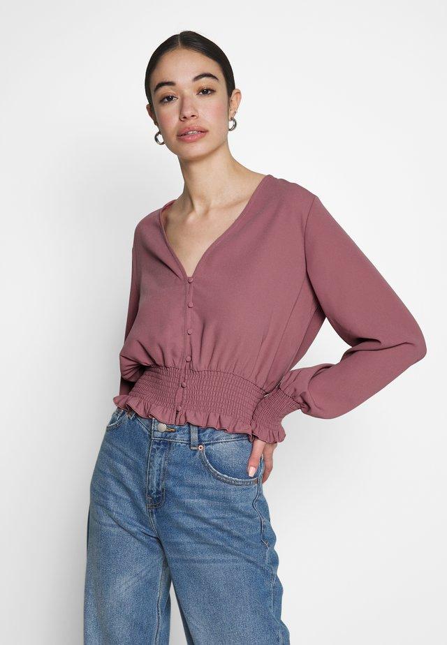 FLIRTY FRILL TOP - Bluzka - pink
