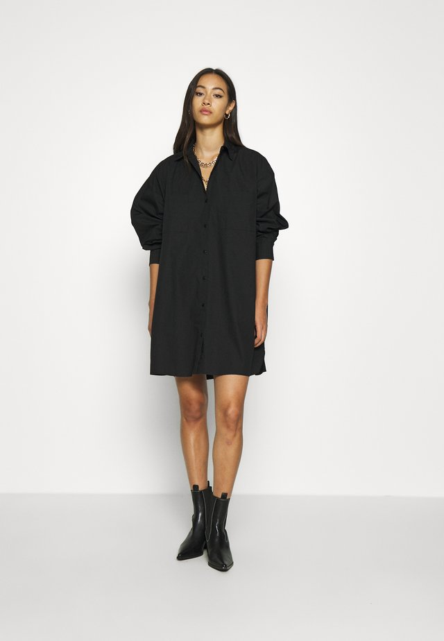 EXTRA OVERSIZE  - Button-down blouse - black