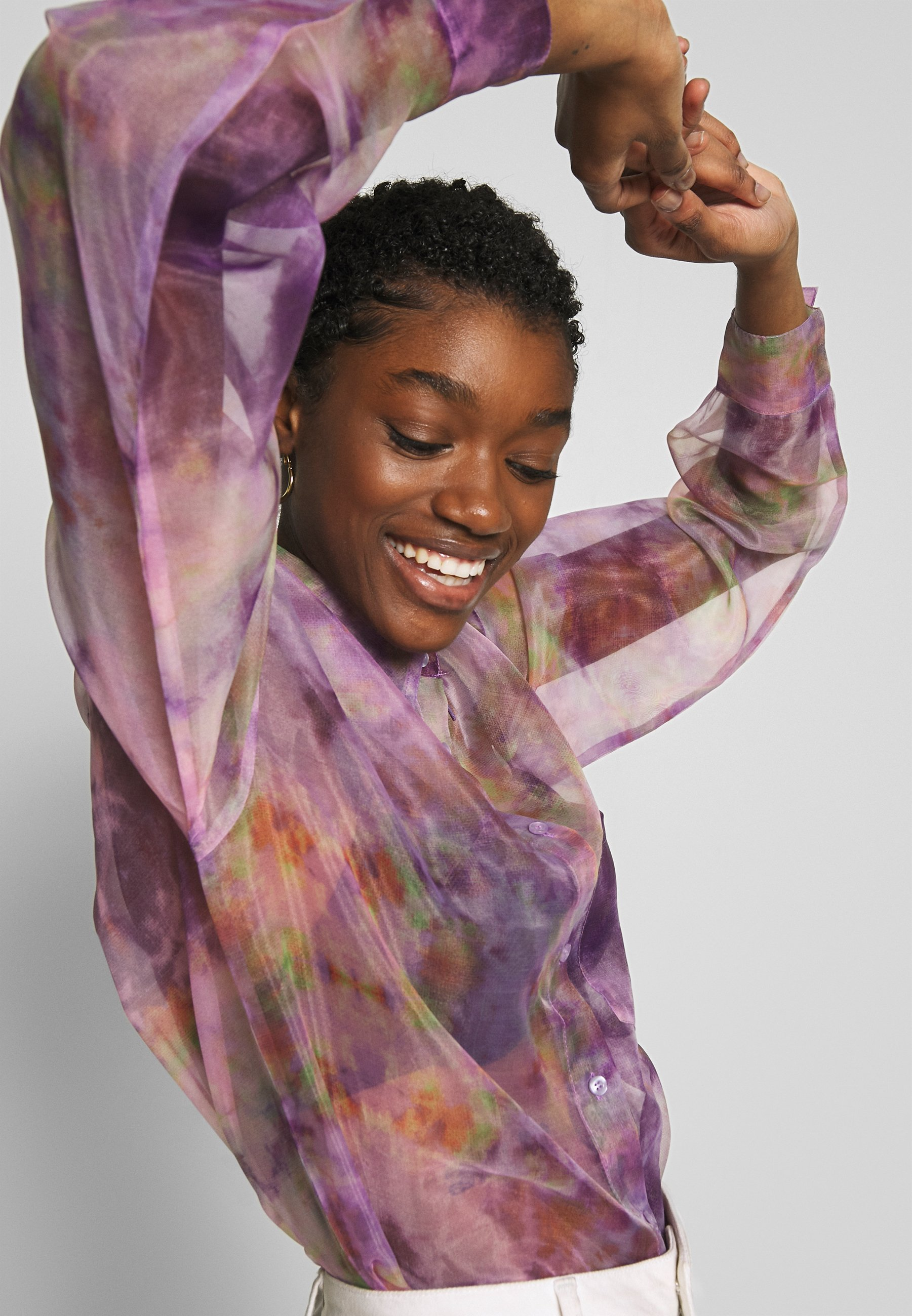 Nly By Nelly Printed Organza - Skjortebluser Multicoloured