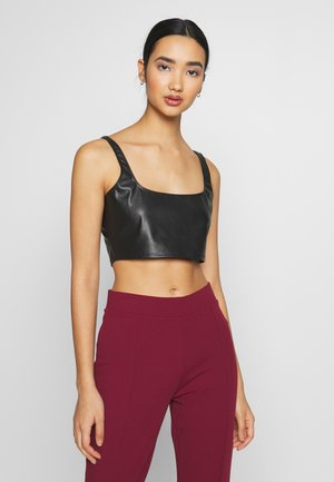 CROP TOP - Blusa - black