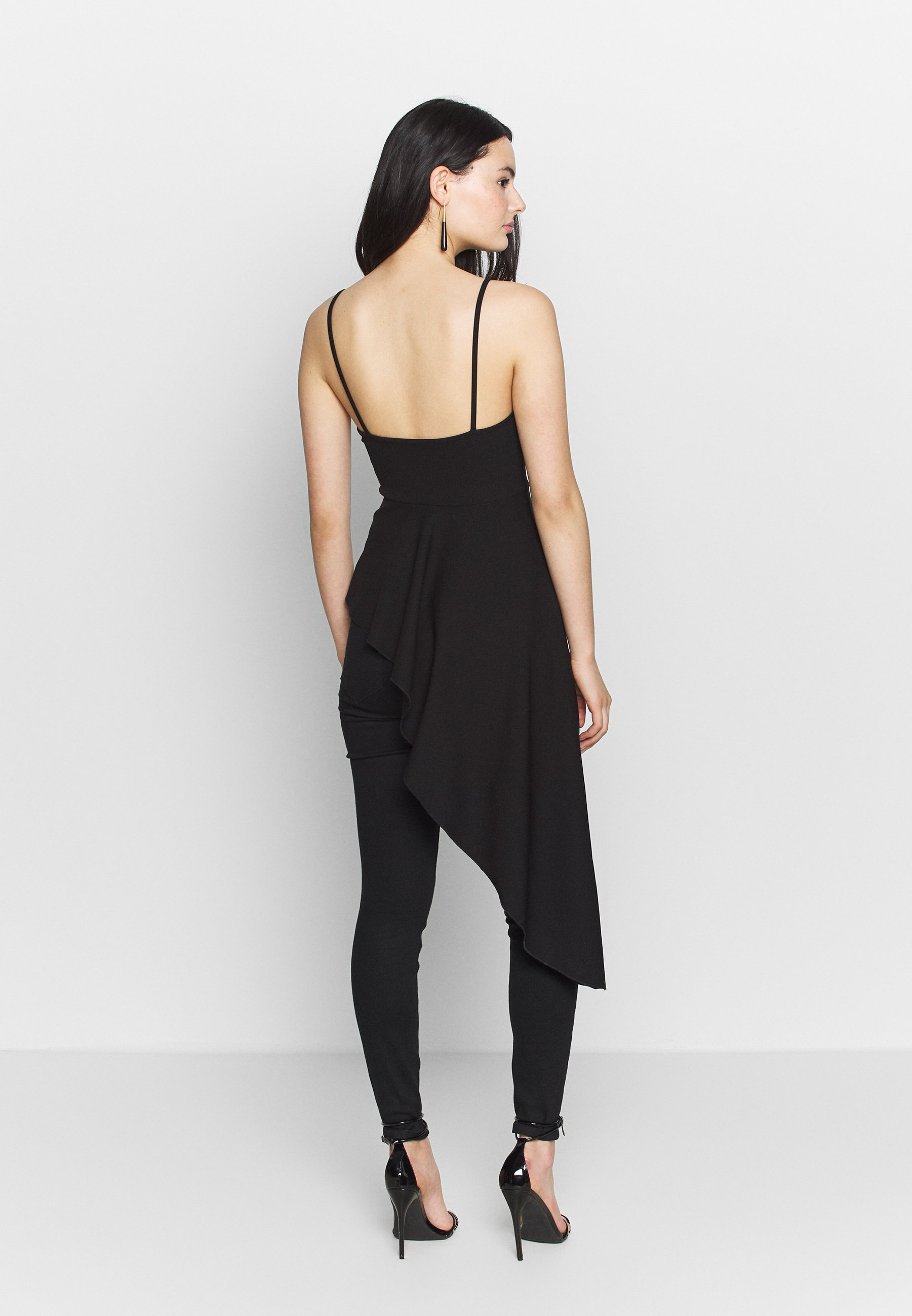 Nly by Nelly HIGH LOW PEPLUM  - Topper - black