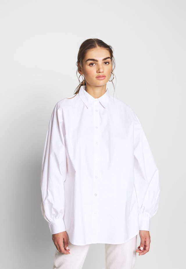 PUFF OVERSIZE - Button-down blouse - white