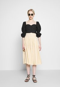 Nly by Nelly - BUTTON SAVANNAH - Blouse - black - 1