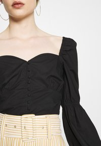 Nly by Nelly - BUTTON SAVANNAH - Blouse - black - 6