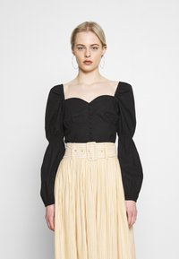Nly by Nelly - BUTTON SAVANNAH - Blouse - black - 0