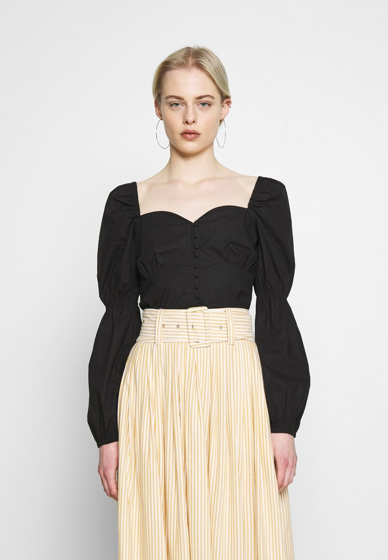 Nly by Nelly - BUTTON SAVANNAH - Blouse - black