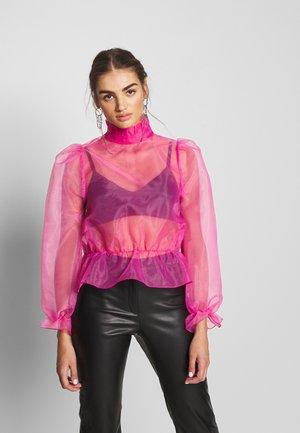ORGANZA BLOUSE - Blusa - pink