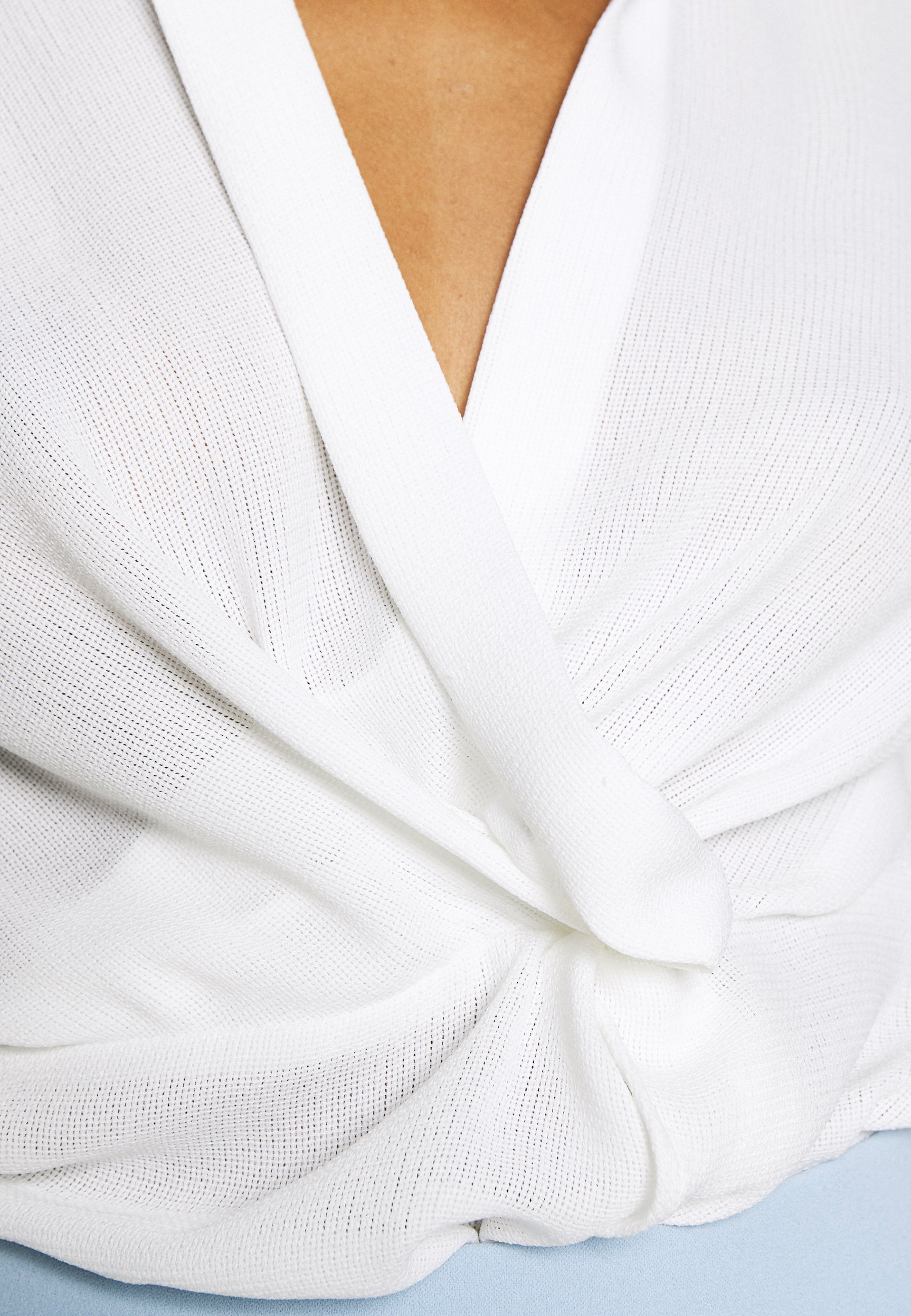 Nly by Nelly STRUCTURE KNOT - Bluzka - white