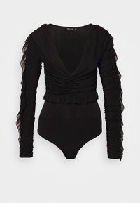 Nly by Nelly - RUFFLE BODY - Topper langermet - black - 5