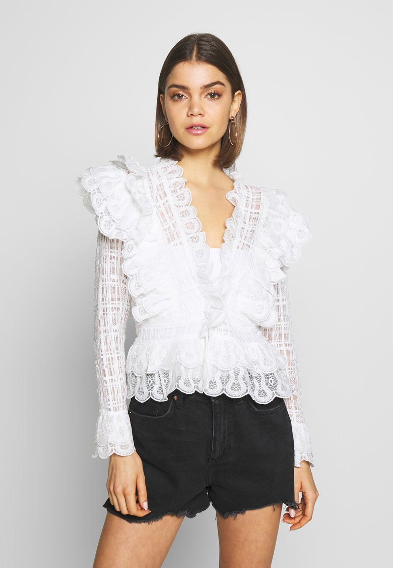 Nly by Nelly - MEGA FRILL - Blusa - white