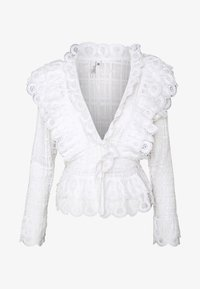 Nly by Nelly - MEGA FRILL - Blusa - white - 4