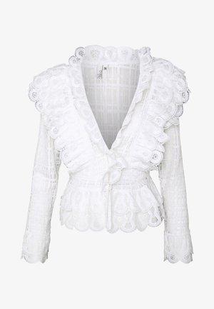 MEGA FRILL - Bluser - white