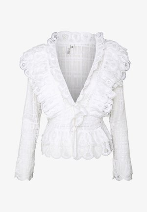 MEGA FRILL - Blusa - white