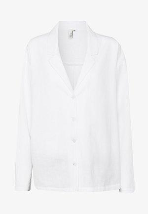 BLAZER SHIRT - Button-down blouse - white