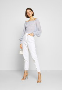 Nly by Nelly - FLOWY SMOCK - Blouse - light blue - 1