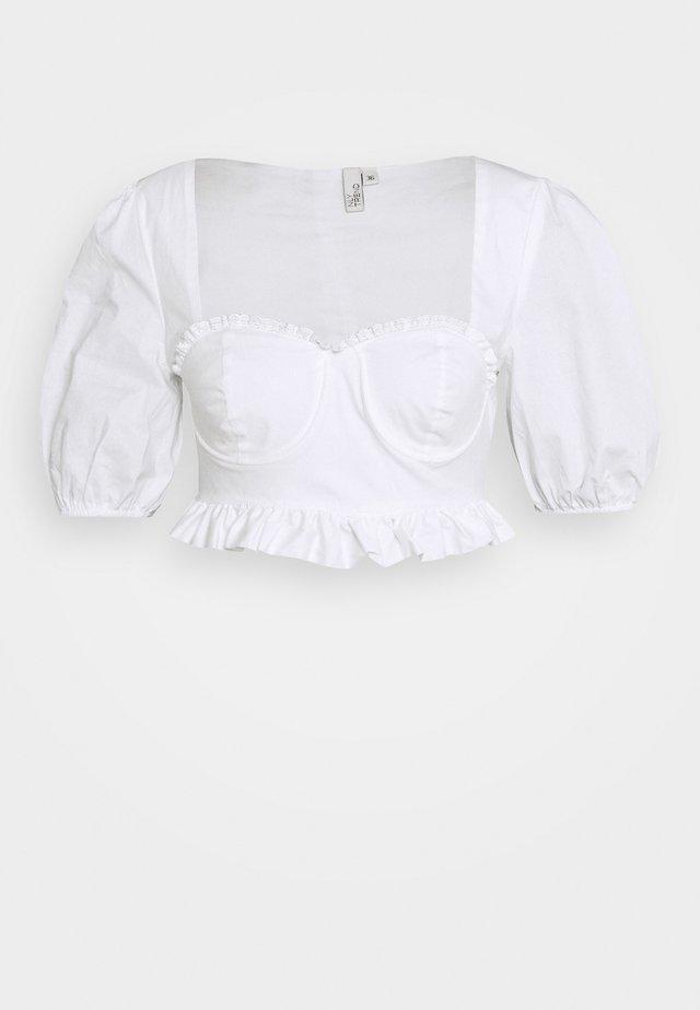 SWEET CORSET - Bluzka - white