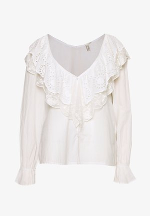 DOUBLE COLLAR BLOUSE - Blůza - white