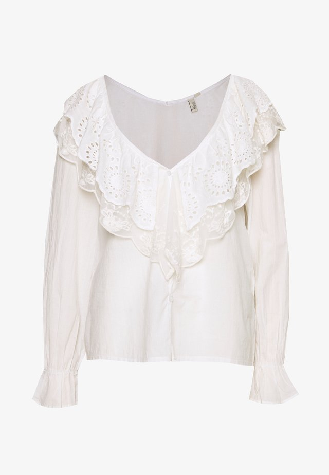 DOUBLE COLLAR BLOUSE - Bluzka - white