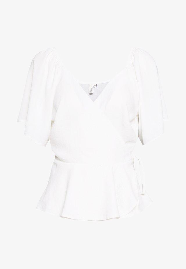 ROMANTIC WRAP BLOUSE - Blouse - white