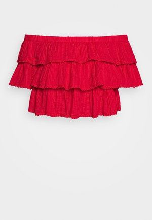 FRILL STRUCTURE - Blusa - red