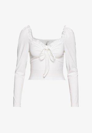 IN LOVE CROP - Topper langermet - white