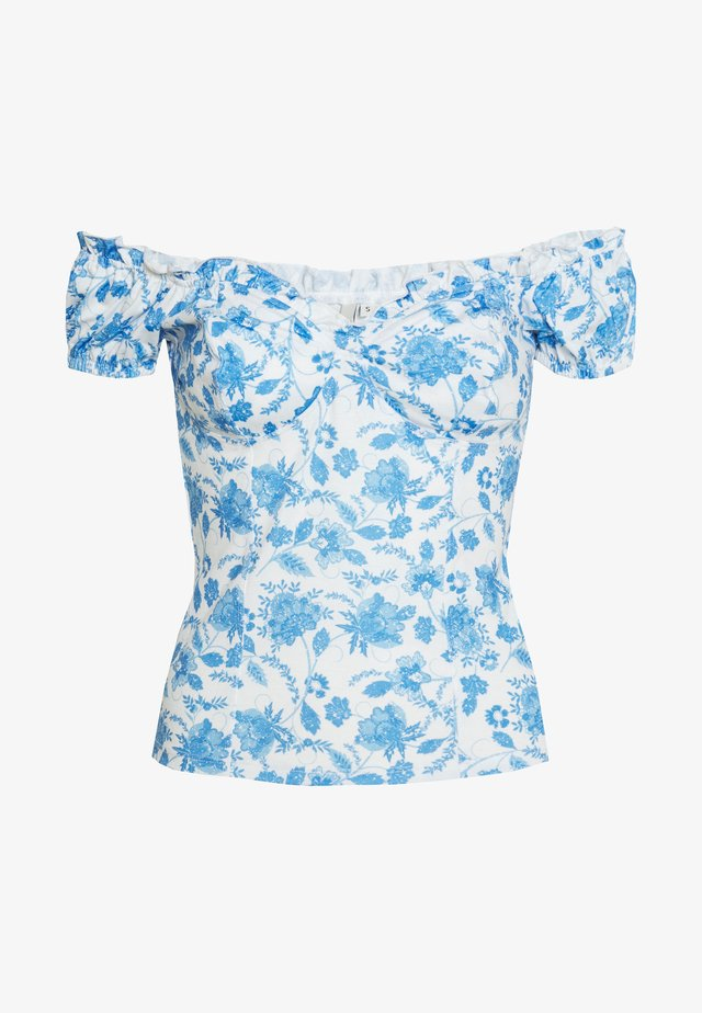 FLIRTY PRINT - Print T-shirt - blue