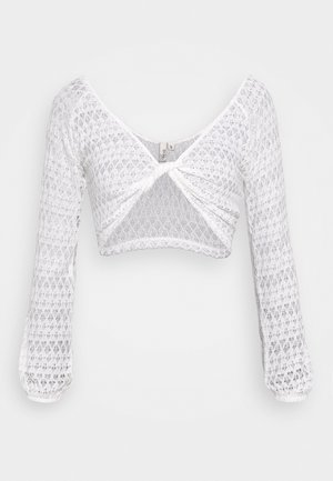 TWISTED CROP - Bluser - white
