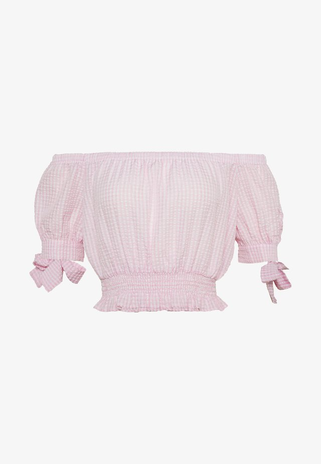 SWEET STRUCTURE TOP - Bluzka - pink