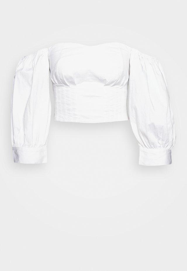 SHOULDER POUF - Bluzka - white