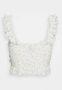 Nly by Nelly - DRAWSTRING CROP - Bluser - white - 1