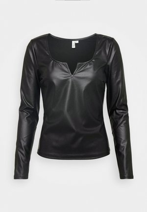 V FRONT - Blouse - black