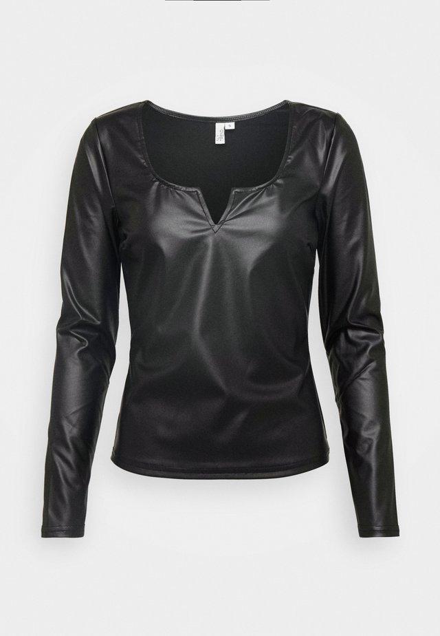 V FRONT - Blouse - black