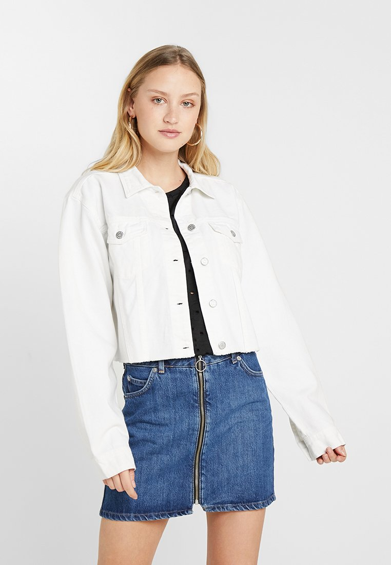 Nly by Nelly - CROPPED SPRING JACKET - Chaqueta vaquera - white