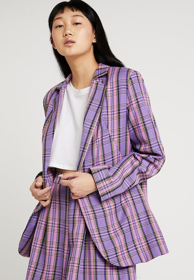Nly by Nelly - COLOURFUL CHECK - Blazer - purple