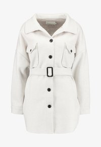 Nly by Nelly - BELTED SHACKET - Pitkä takki - offwhite - 4