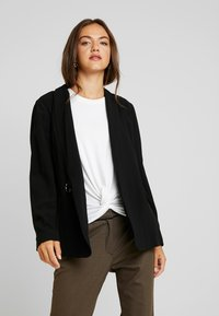 Nly by Nelly - WRAP BELTED - Short coat - black - 0