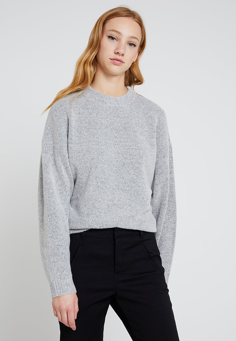 Nly by Nelly - SLEEVE FOCUS - Strickpullover - grey melange