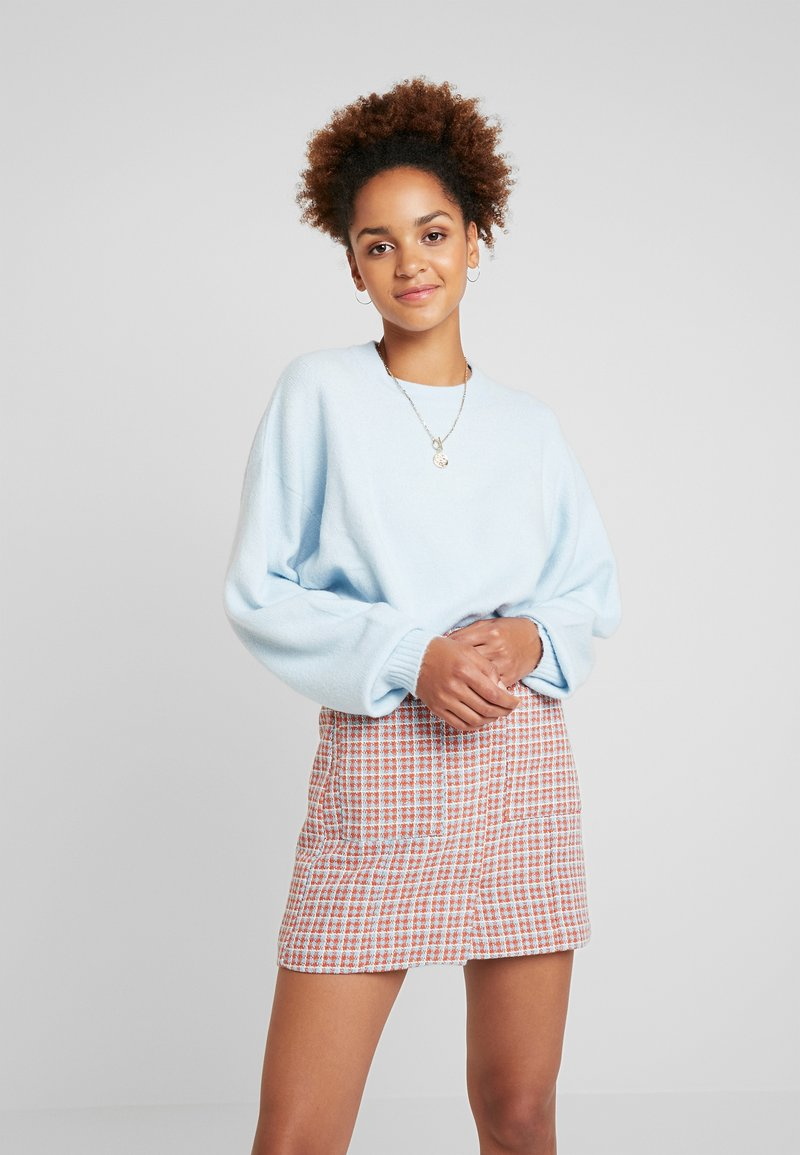Nly by Nelly - SLEEVE FOCUS - Strickpullover - light blue
