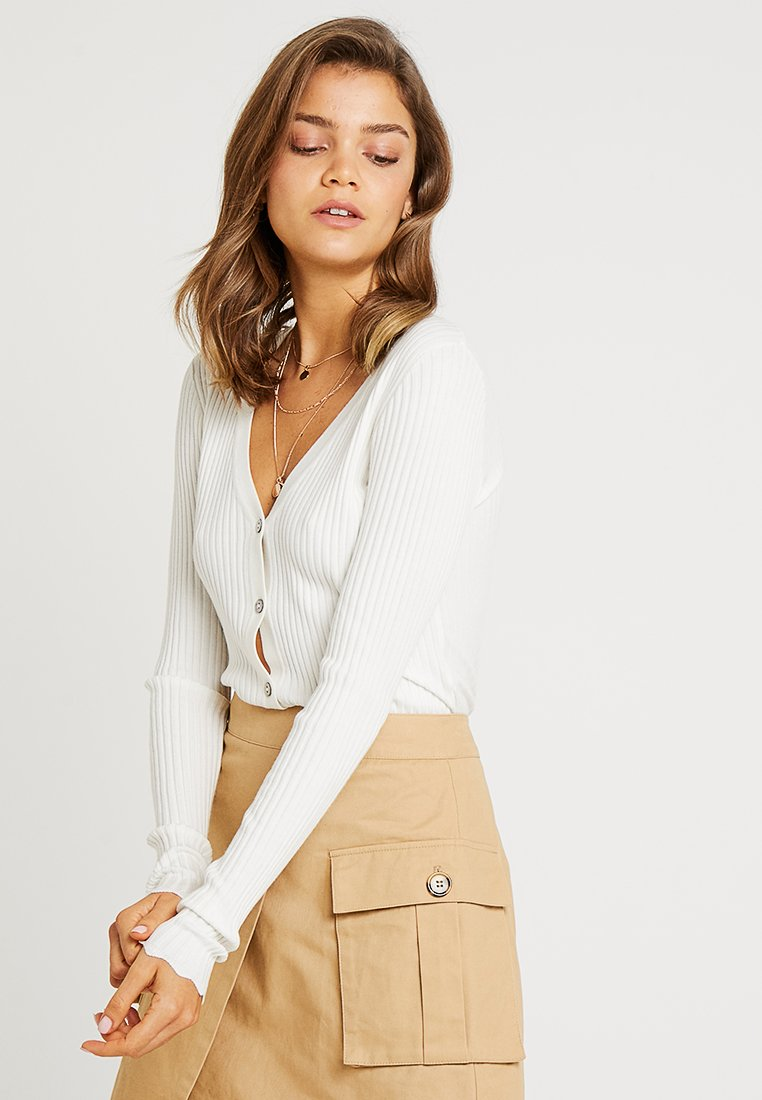 Nly by Nelly - CARDIGAN - Cardigan - white