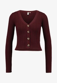 Nly by Nelly - CROPPED CARDIGAN - Chaqueta de punto - wine - 3